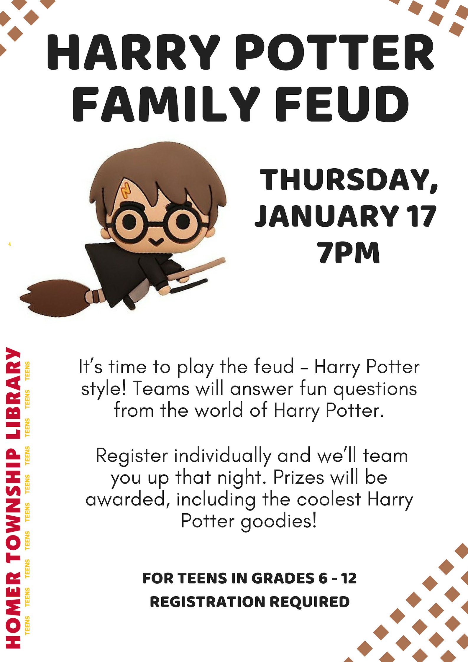 HARRY POTTER FAMILY FEUD | Homer Township Public Library